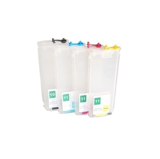 Dubaria Empty Refillable Cartridge For HP T730, T830 Plotter Printer Without Chip Compatible With HP 728 All Four Colors - 280 ML Capacity