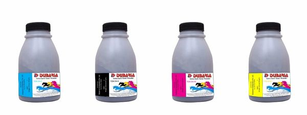 Dubaria Color Toner Powder Compatible For Ricoh SP C250 (Black, Cyan, Yellow, Magenta) Color Toner Powder Kit - 50 Grams Each Bottle