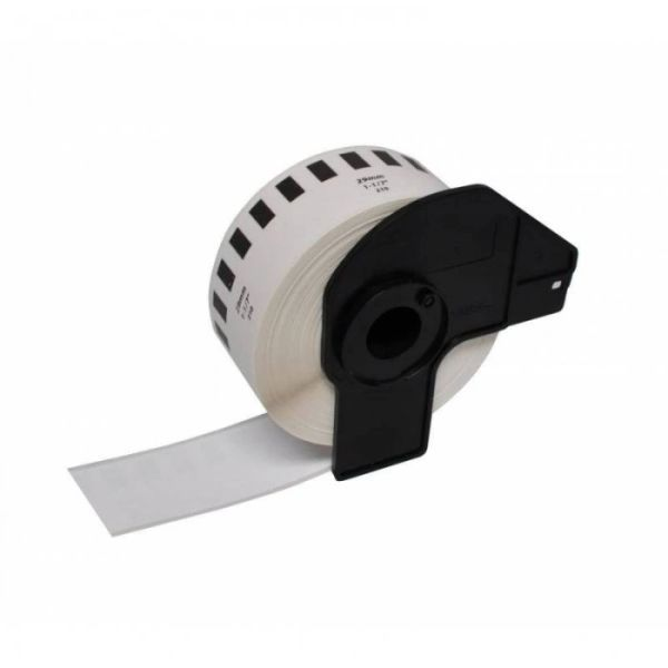 "Dubaria Compatible Thermal Roll For Brother DK-2210 Compatible 1-1/7"" x 100' (29mm x 30.48M) Continuous White Label"