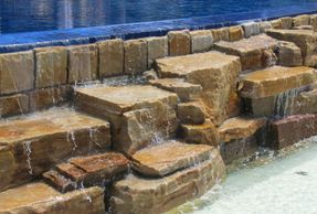 Waterfall contractor in Florida Infinity edge pools Florida waterfall company