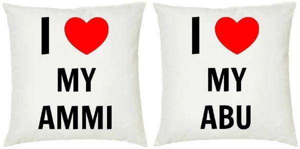 Personalised I Love My Cushion Gift Set