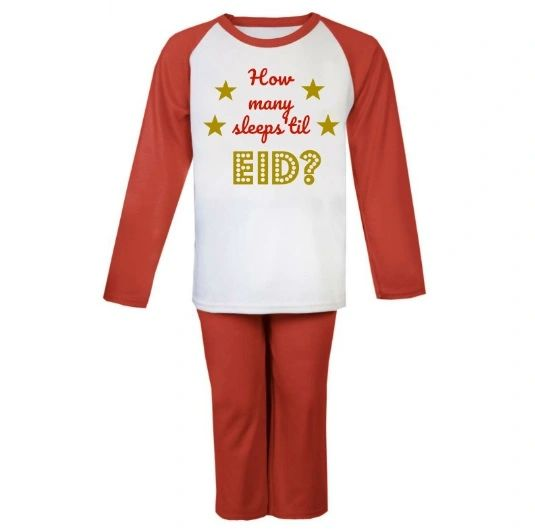How Many Sleeps 'til Eid Kids Pyjamas Set Eid Ramadan Gift Childrens
