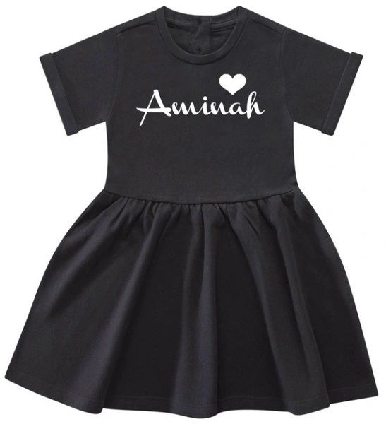 Girls Personalised Name Baby Toddler Dress Islamic Gift