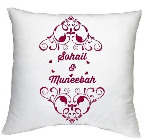 Personalised Name Mr and Mrs Cushion Muslim Wedding Gift
