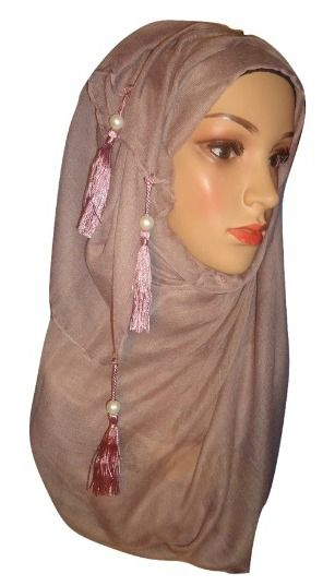 Womens Ladies Pearl Hijab