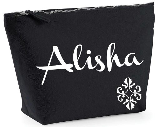 Personalised Zipped Bag Accessory Case Pouch