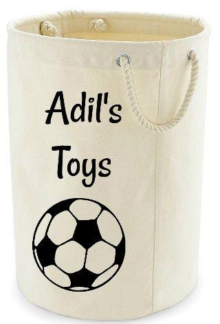 Personalised Name Storage Toy Tidy Bucket Bag