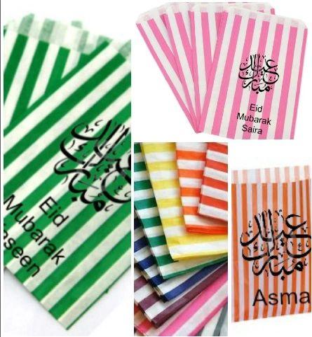 Personalised Sweet Bags Eid Mubarak Gift