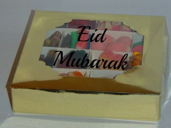 Eid Mubarak Personalised Halal Pick N Mix Sweet Gift Box HMC Sweets