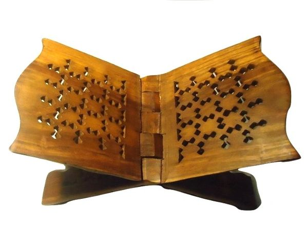 Large Wooden Quran Rehal Stand Holder