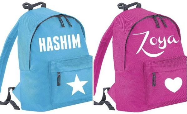 Kids Personalised Name Rucksack Bag School Sports Backpack