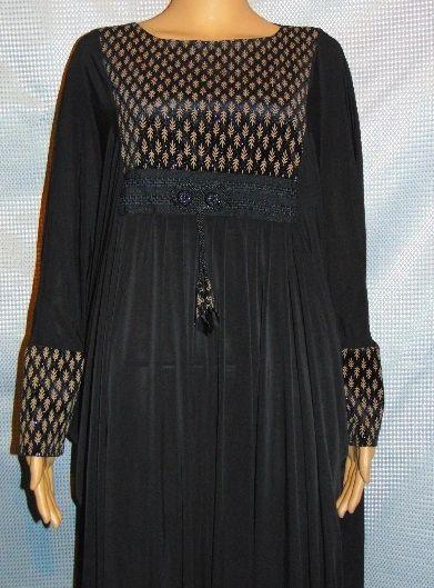 Ladies Batwing Black Jersey Abaya