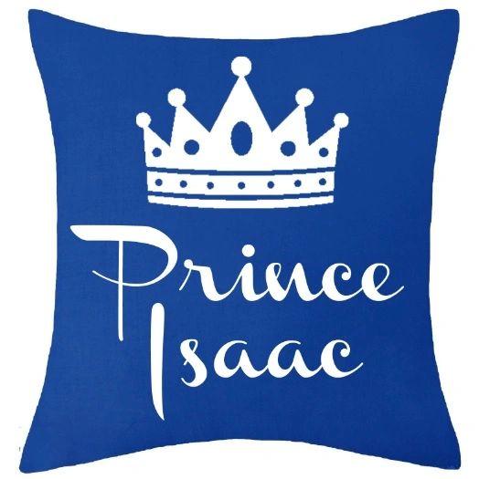 Personalised Kids Name Prince Baby Cushion Muslim Newborn Gift