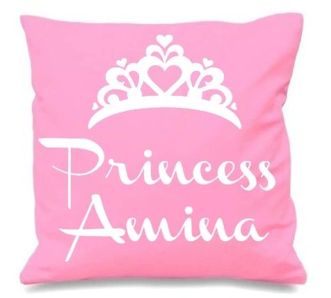 Personalised Kids Name Princess Baby Cushion Muslim Newborn Gift
