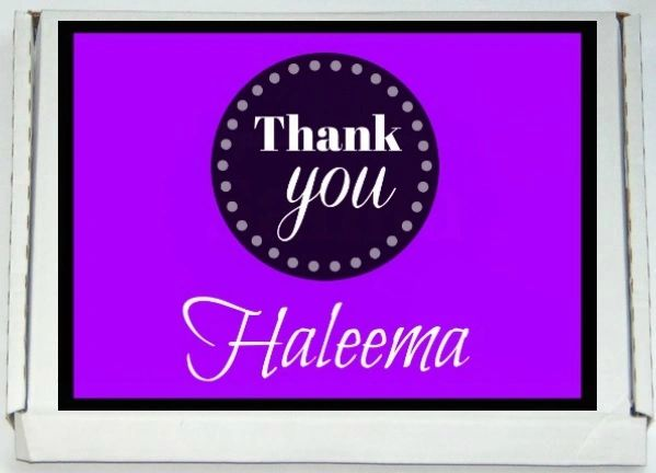 Personalised Thank You Letterbox Halal Sweets Chocolates Treats Islamic Gift