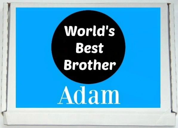 Personalised World's Best Brother Letterbox Halal Sweets Chocolates Treats Islamic Gift