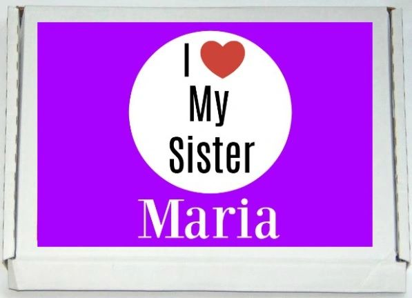 Personalised I Love My Sister Letterbox Halal Sweets Chocolates Treats Islamic Gift