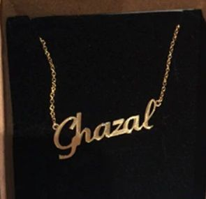 Personalised English Name Necklace Gold Silver