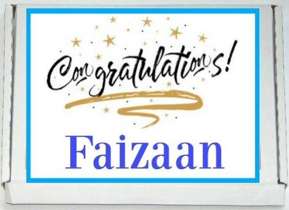 Personalised Congratulations Letterbox Halal Sweets Chocolates Treats Islamic Gift