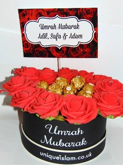 Personalised Floral Chocolates Gift Umrah