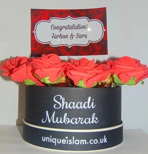 Personalised Floral Chocolates Gift Shaadi Mubarak