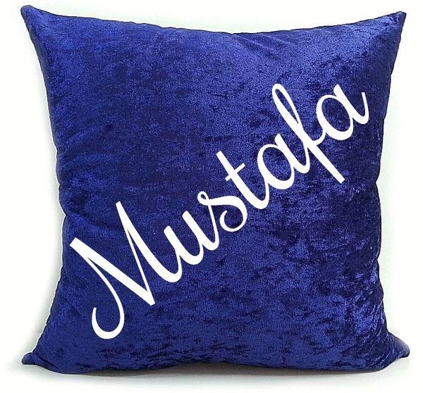 Personalised Velvet Cushion Name Baby Cushion Muslim Newborn Gift