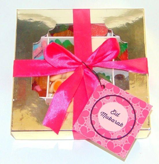 Eid Mubarak Halal Pick N Mix Pink Sweet Box Gift