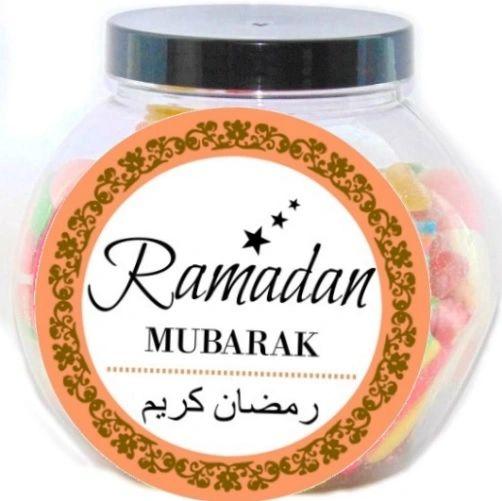 Ramadan Mubarak Pick N Mix Halal Sweet Jar Gift