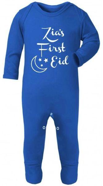Personalised My First Eid Baby Babygrow Bodysuit Sleepsuit Romper Chest