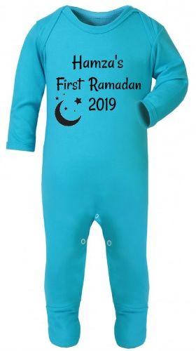 Personalised My First Ramadan Baby Babygrow Bodysuit Sleepsuit Romper Chest