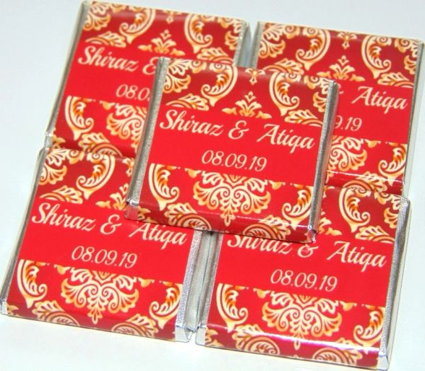 Personalised Halal Chocolate Favours Muslim Wedding Or Any Occasion