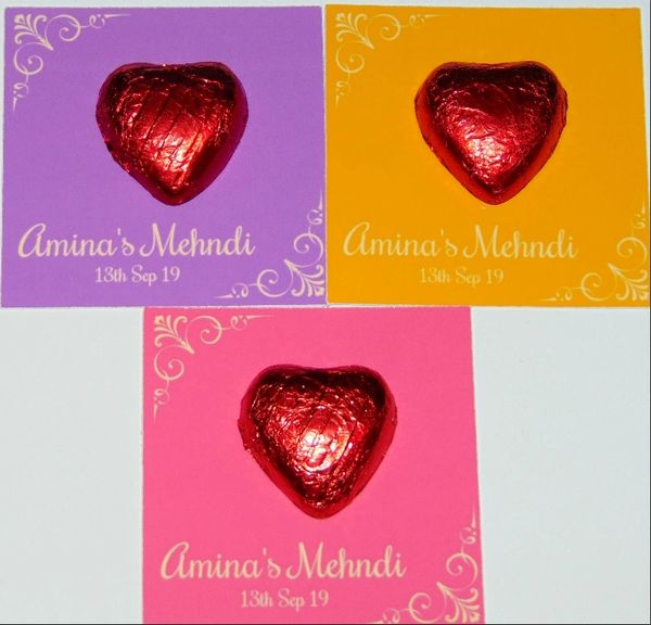 Personalised Halal Chocolate Favours Token Muslim Wedding Or Any Occasion
