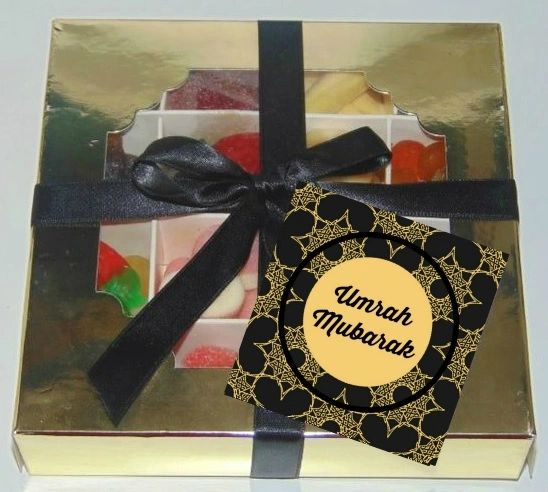 Umrah Mubarak Halal Pick N Mix Sweet Gift Box HMC Sweets Black