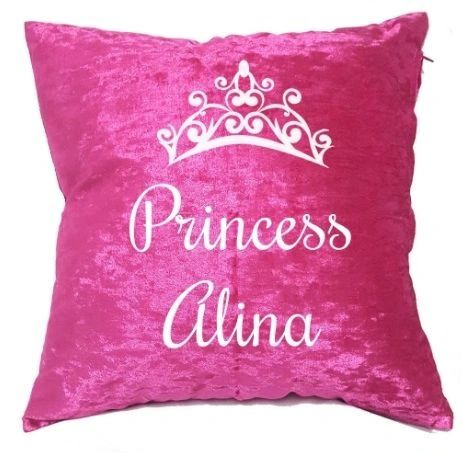 Personalised Princess Velvet Cushion Muslim Gift