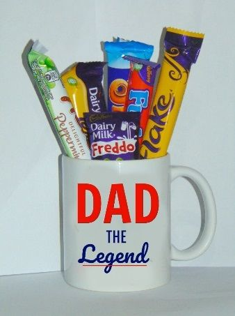 Personalised Dad Mug With Chocolates Cellophane Fathers Gift