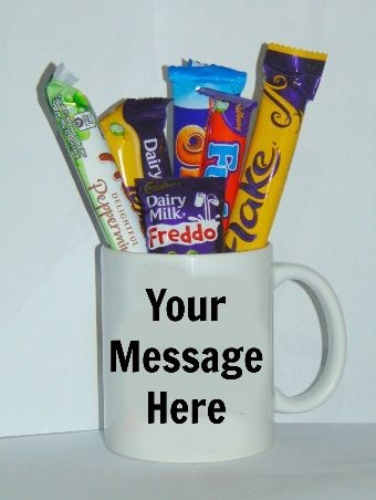 Personalised Mug With Chocolates Cellophane Gift