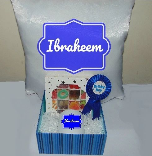 Boys Birthday Personalised Gift Hamper/Gift Box With Cushion