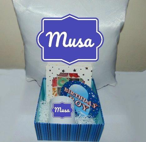 Boys Personalised Birthday Gift Hamper/Gift Box With Cushion