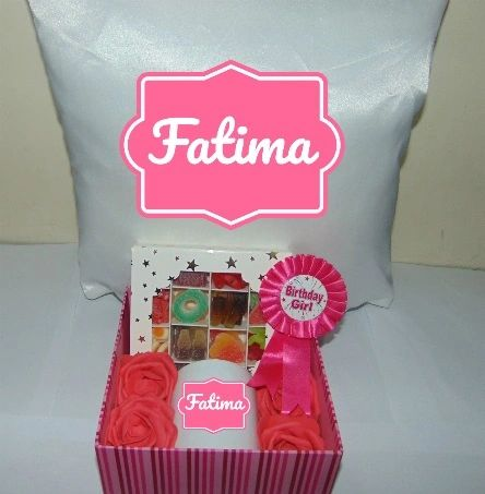 Girls Birthday Personalised Gift Hamper/Gift Box With Cushion