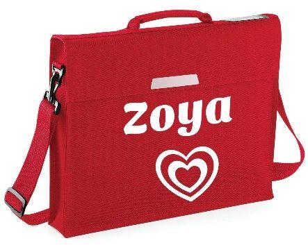 Kids Personalised Name School Satchel Book Bag