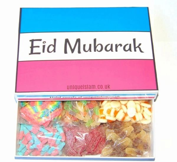 Large Eid Mubarak Sweet Gift Box Halal Sweets Box