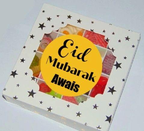 Personalised Eid Mubarak Halal Pick N Mix Sweet Gift Box HMC Sweets