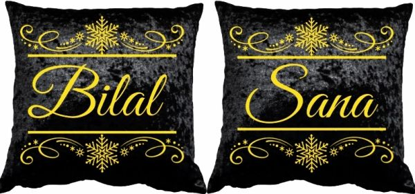 Personalised Velvet Cushion Set Wedding Gift Muslim Nikkah Gift