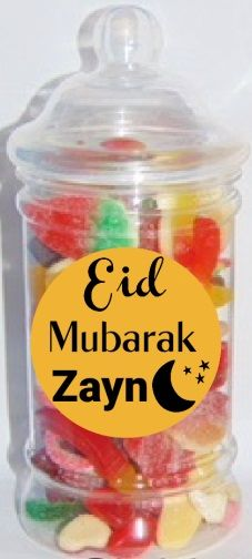 Eid Mubarak Sweet Jar Halal Sweet Jar Eid Gift