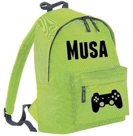 Boys Personalised Name Rucksack Bag School Sports Backpack