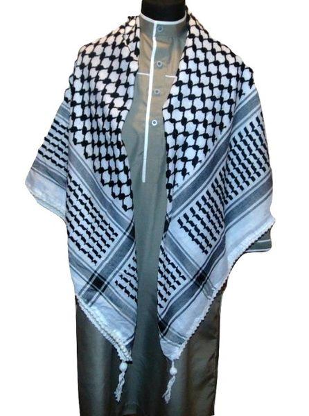 Checkered Black White Palestinian Keffiyeh Scarf