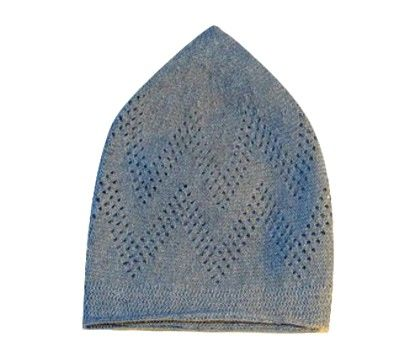 Mens Grey Islamic Prayer Hat