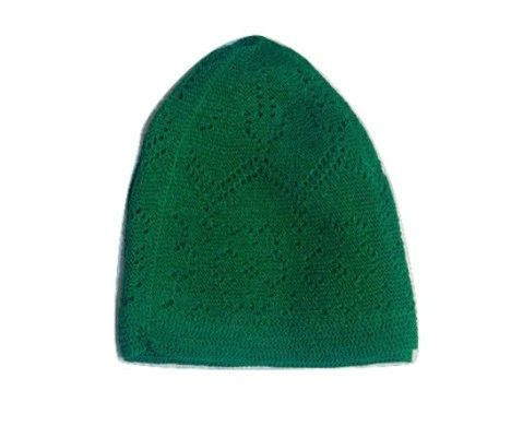 Mens Green Islamic Prayer Hat