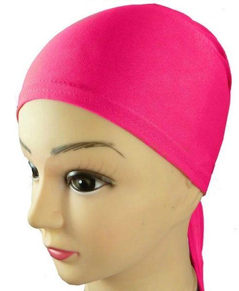 Pink Hijab Bonnet Cap Plain Tieback Underscarf