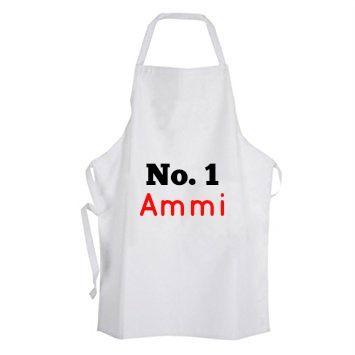 No.1 Ammi Apron Personalised Mum Ammi Ami Mothers Day Islamic Gift